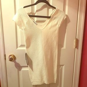 NWT Bebe bodycon white cocktail dress Sz M/L